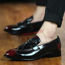 Brogue Mens Tassels loafers Slip On Pointy Toe oxford  Formal Dress Shoes new