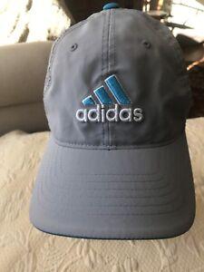 Adidas Original Mens Aqua White Cap Hat Flex Clima-Cool Tailor Made Grey Fit S-M