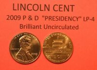 2009 P&D UNCIRCULATED LINCOLN BICENTENNIAL CENT PENNY SET - PRESIDENCY