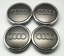 4  Cache Jante moyeux Centre de roue Audi A3 A4 RS4 RS6 A5 A6 A8 TT 68mm 69mm