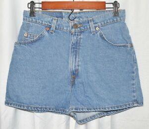 Vintage Levi's Orange Tab 912 Women's Slim Fit Jean Shorts. Made in USA.