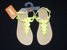 Nwt Gymboree Girls Youth Size 1 Bright Ideas Play By Heart Yellow Sandals Summer