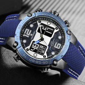 Luxury Mens Watches Digital Analogue 5ATM Waterproof Quatrz Military Sport Watch