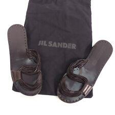 JIL SANDER Damen Schuhe Sandalen braun Leder Gr. EU 36 Shoes Leather Leder