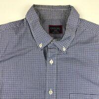 Untuckit Mens Purple Plaid Long Sleeve Slim Fit Button Up Shirt Large