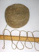 100g 100% pura lana filato per maglieria Britannico Donegal Tweed BEIGE si prega di leggere attentamente