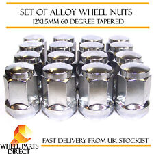 Alloy Wheel Nuts (16) 12x1.5 Bolts Tapered for Toyota Yaris [Mk1] 99-05