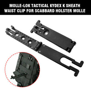 Molle-Lok Kydex K Sheath Clip For Scabbard Holster Tactical Molle Backpack Black