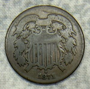 1871 Two Cent Piece (2C) Uncertified Coin