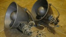 Lot of 2 Vintage USSR Soviet Police car megaphone speaker horn loudspeaker