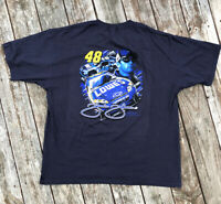 Chase Jimmie Johnson Lowe's  #48 Nascar Racing Graphic Tee Double Sided  2XL A14