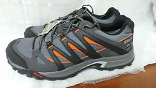 New Men's Salomon Escape GTX Hiking Shoes  Grey/Black/Or   327305 Size 11.5 W119