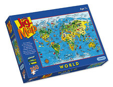 Gibsons - 250 PIECE JIGSAW PUZZLE - JigMap World Childrens Map & Quiz Puzzle