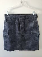 New With Tags Women's GUESS Black Cargo Denim Mini Skirt Size Large L@@K