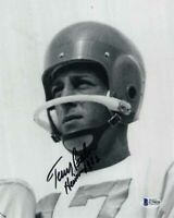 TERRY BAKER SIGNED AUTOGRAPHED 8x10 PHOTO + HEISMAN 62 OREGON STATE BECKETT BAS
