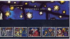 GB 1992 Noël stained glass windows Presentation Pack No.232