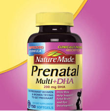 Nature Made Prenatal Multi Vitamin + DHA, 200 mg DHA, 150 Softgels