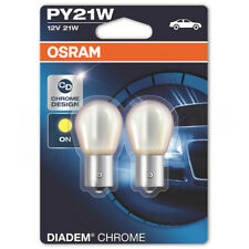 OSRAM DIADEM CHROME PY21W INDICATOR SIGNAL BULBS 581 TWIN PACK 12V 21W BAU15S
