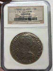 1783 MO FF Mexico 8R 8 Reales El Cazador Shipwreck Coin NGC Genuine Pirate Coin