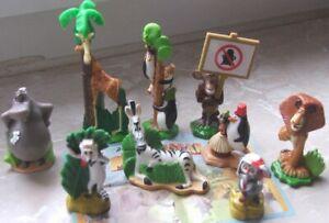 Rare lot kinder madagascar 2  9 figurines + 1 BPZ