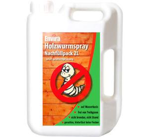 ENVIRA 2L Holzwurm Spray Mittel Tod Schutz Ex frei gegen Holzwürmer Hausbock