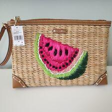 Michael Kors Malibu Watermelon Zip XL Clutch Wristlet Handbag