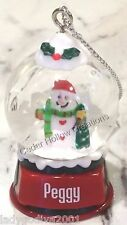 Personalized Snow Globe Ornament - Peggy - FREE Shipping