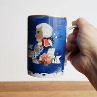 Wolfgang Amadeus Mozart porcelain mug Goebel by Rosina Wachtmeister 8oz gift