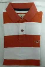 Hollister mens polo small orange stripe in very good condition!