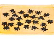 24 Plástico Negro Halloween MOSCAS Accesorio Decoración 2cm tamaño Araña