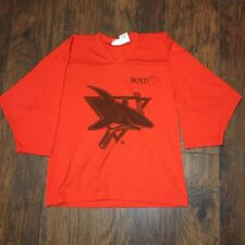 Worcester Jr. Sharks Orange Practice Hockey Jersey #8 kamazu Size Youth SM/Med