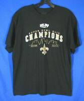 REEBOK T-Shirt Football NEW ORLEANS SAINTS Superbowl XLIV CHAMPIONS Youth XL