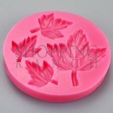 Autunno Primavera FOGLIA stampo in silicone cupcake topper stampo Sugarcraft utensile Natura