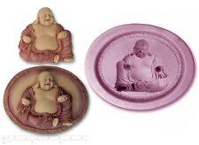 BUDDHA PLAQUE Craft Sugarcraft Sculpey Silicone Rubber Mould