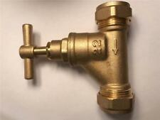 Brass Stopcock Tap Valve Compression 22 mm Shut Off Water Mains Stop-Cock