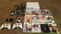 Microsoft Xbox 360 Console Bundle w/ Controllers and 12x games