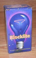 Unbranded 75 Watt 120V Standard Base Black Lite Bulb in Box **READ**