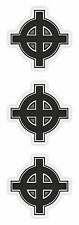 Cross 3x Stickers #01