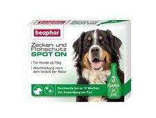 Beaphar Spot-on Tropfen Zecken- und Flohschutz für große Hunde über 15kg 3x2ml