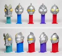 Pez ULTRAMAN Figure Series 1 Mini Bandai pez set BRAND NEW
