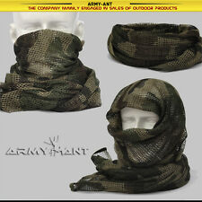 3-color Woodland Camo Tactical Mesh Scarf Wrap Face Cover Mask Shawl Sniper Veil