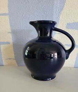 Vintage Fiesta Fiestaware Cobalt Dark Blue Pitcher Carafe HLC