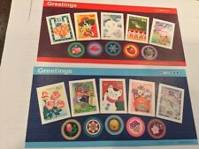 Japan Scott#2850-1 2003 Greetings Stamps & Stickers 2 Souvenir Sheets SA MNH