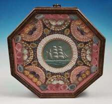 RARE Bernie Woodman Sailors Valentine With Ship Oil Painting CJ Guise Shell Art