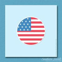 "American Flag Circle USA - Vinyl Decal Sticker - c157 - 3.75"" x 3.75"""