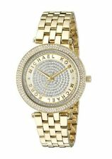 Michael Kors MK3445 Gold Tone Mini Darci Crystal Pave Dial Women Wrist Watch