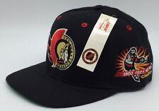 NWT Vintage Ottawa Senators ANNCO Snapback Hat NHL Black Dome Plain 90s NEW