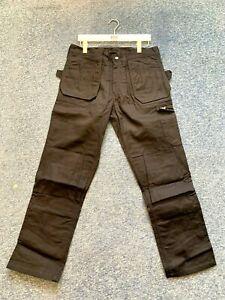 "Helly Hansen 76403 York Work Trousers Black size C50 34"" Waist Regular Kneepad P"