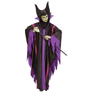Maleficent Evil Queen Malefizia Halloween Ladies Fancy Dress Costume S -XL