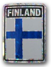 Finland Country Flag Reflective Decal Bumper Sticker